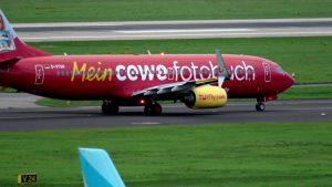 Abflug Düsseldorf D-ATUH – TUIfly Boeing 737-8K5 mit Cewe Fotobuch Livery