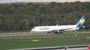 Flugzeug Start – Condor Thomas Cook hebt ab