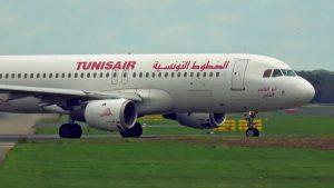 Flugzeuge landen auf Düsseldorf Flughafen