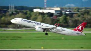 Flugzeug Start und Landung Düsseldorf