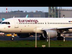 Flughafen Düsseldorf – Airbus A320-214  startet