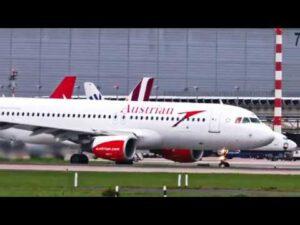Düsseldorf Flughafen – Flugzeug Start und Landung