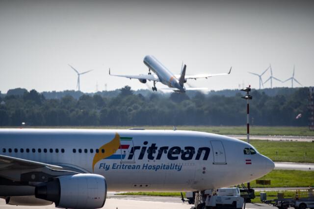 Eritrean am Flughafen Düsseldorf