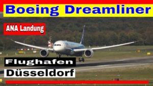Dreamliner JA836A landet am Flughafen Düsseldorf