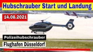 Hubschrauber Start der Polizei am Flughafen Düsseldorf